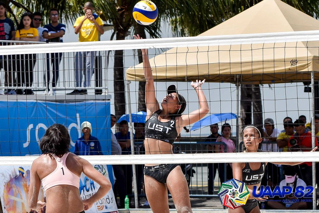 DOMINANT. The University of Santo Tomas completed a beach volleyball sweep as its teams ran away with the UAAP Season 82 championship in the men and women's divisions on Sunday, October 6.