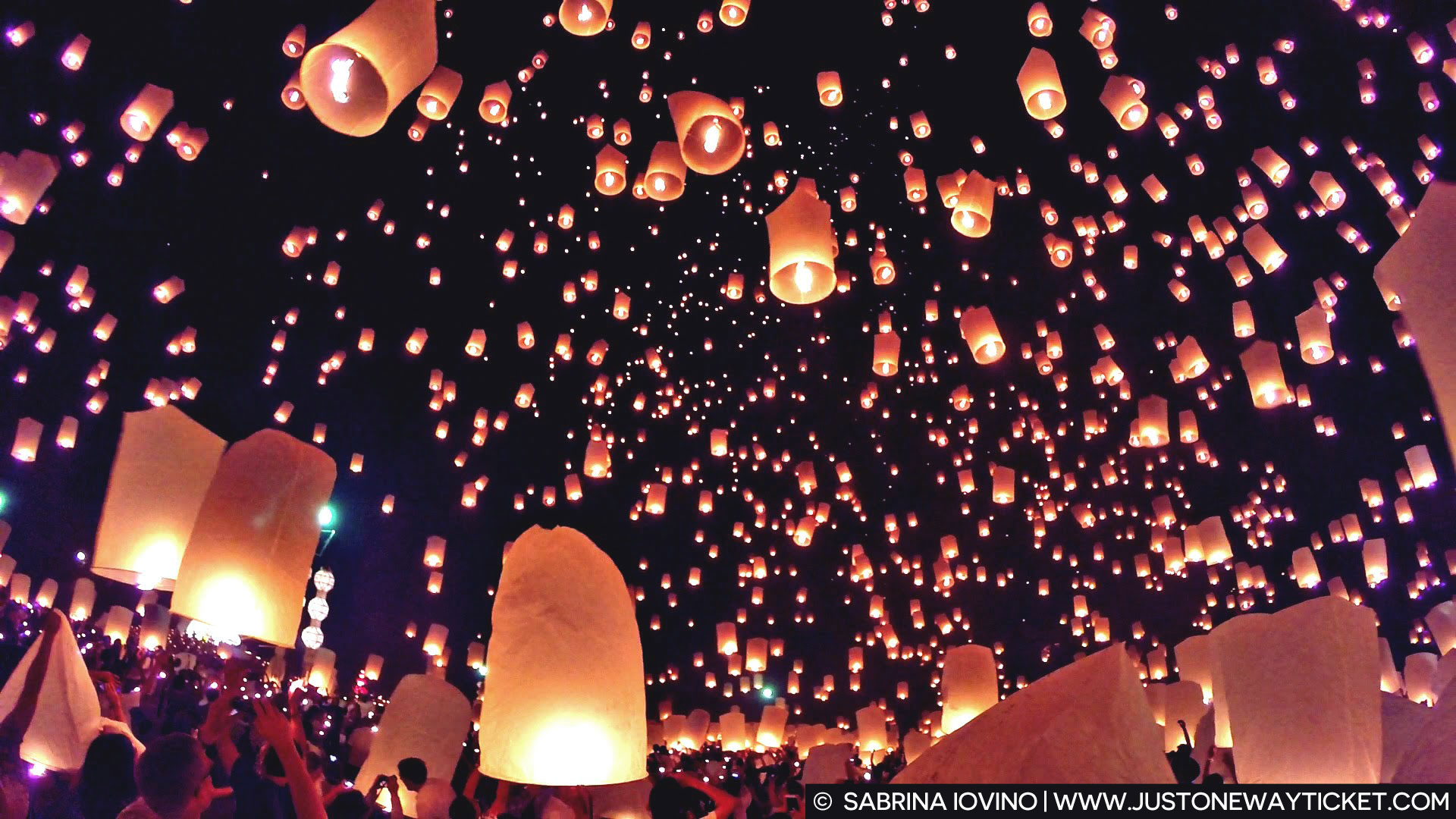 enchanting scenes from loy krathong magical lantern festival in