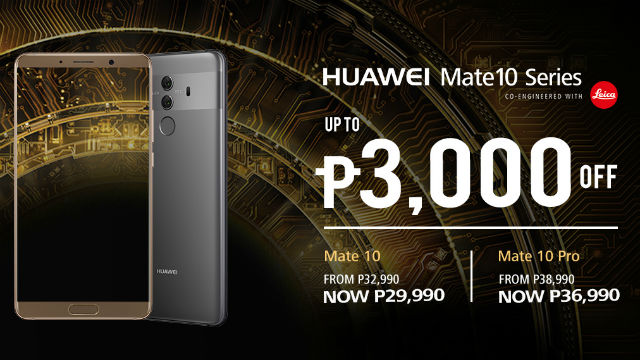 huawei mate 10 gets p3 000 price cut pro model down by p2 000. Black Bedroom Furniture Sets. Home Design Ideas