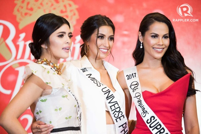 THE LAST 3. Rachel Peters, Katarina Rodriguez, and Chanel Thomas are ready to compete in their respective competitions.