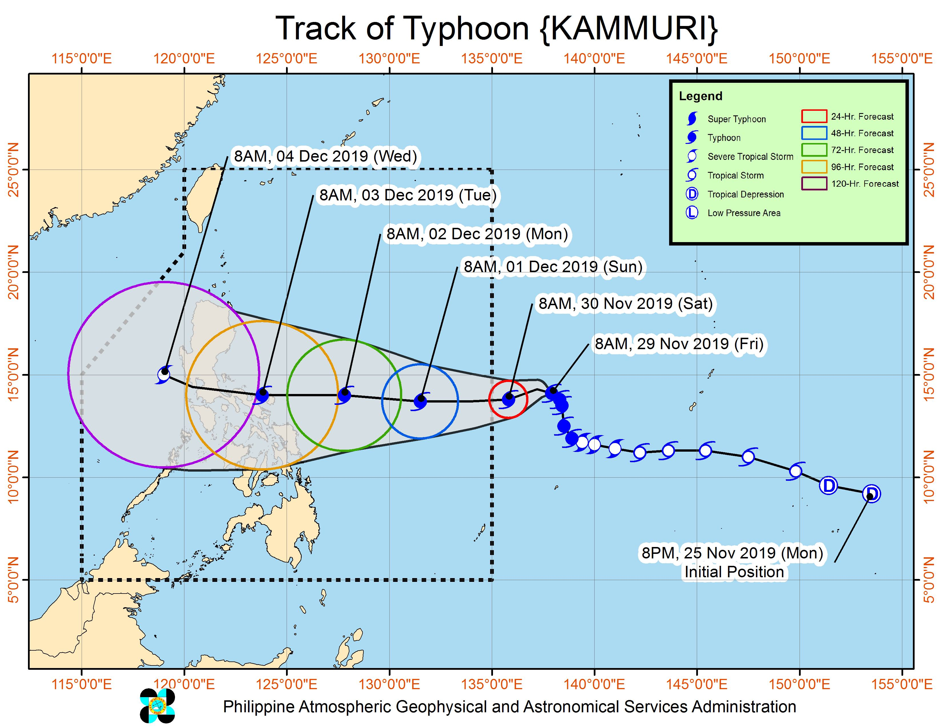 Typhoon Kammuri strengthens as it slowly heads for PAR