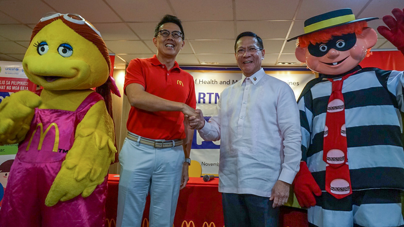 McDonald's to host free polio vaccination hubs in NCR, Mindanao