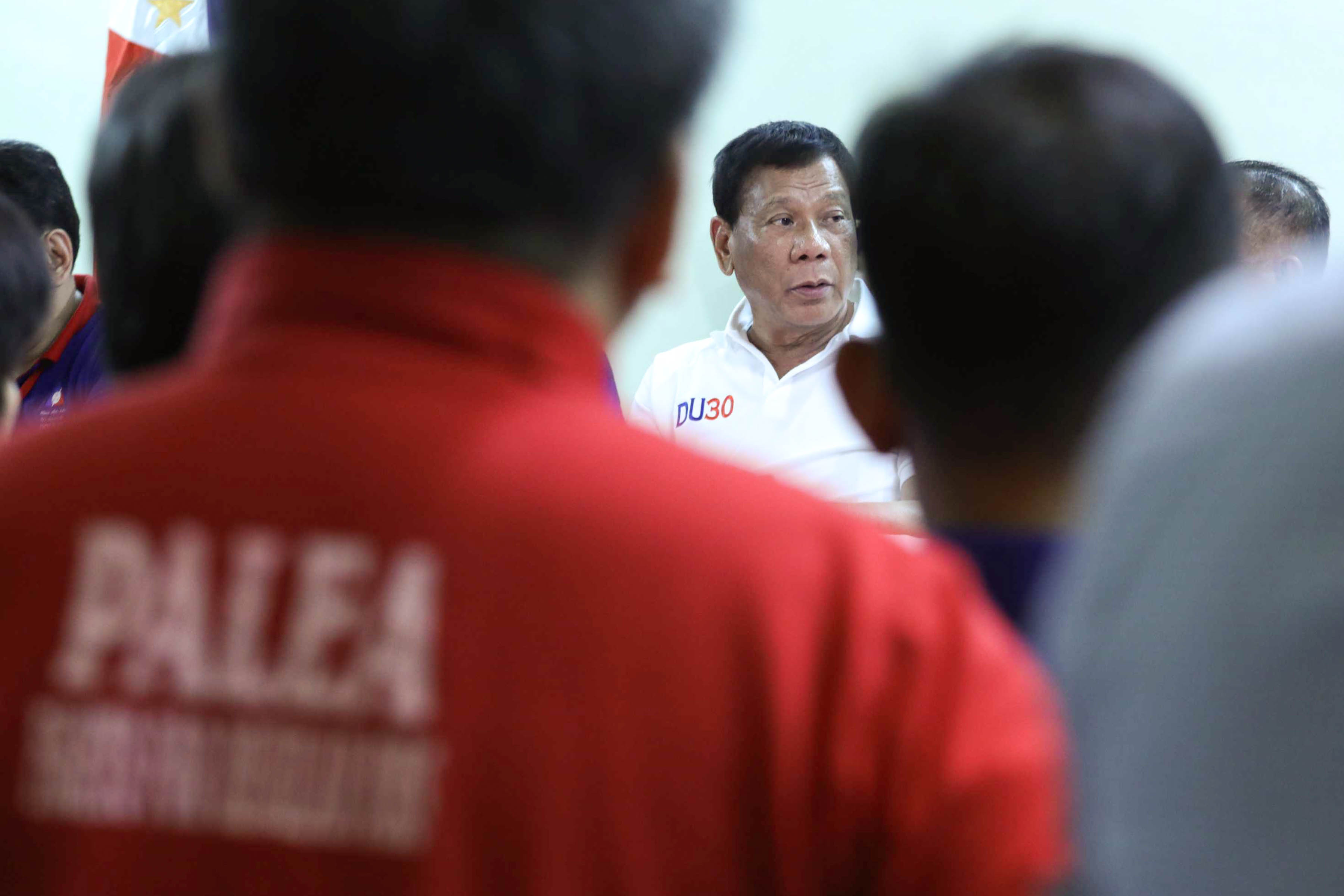 AGAINST OLIGARCHS. Prior to his Labor Day speech, the President met with leaders from various labor organizations to discuss contractualization. Presidential photo