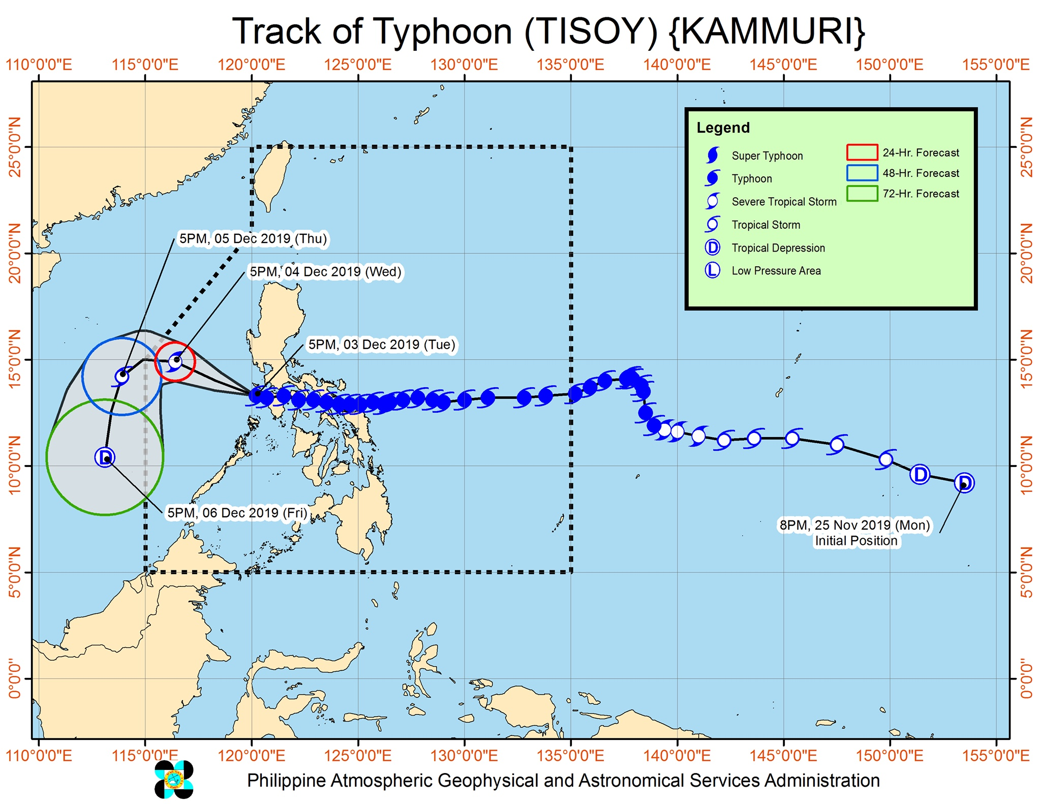 Typhoon Tisoy maintains strength over Mindoro Strait