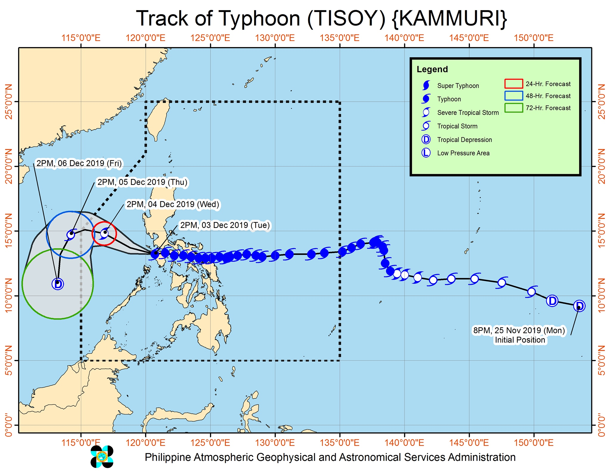 Typhoon Tisoy exits landmass via Occidental Mindoro