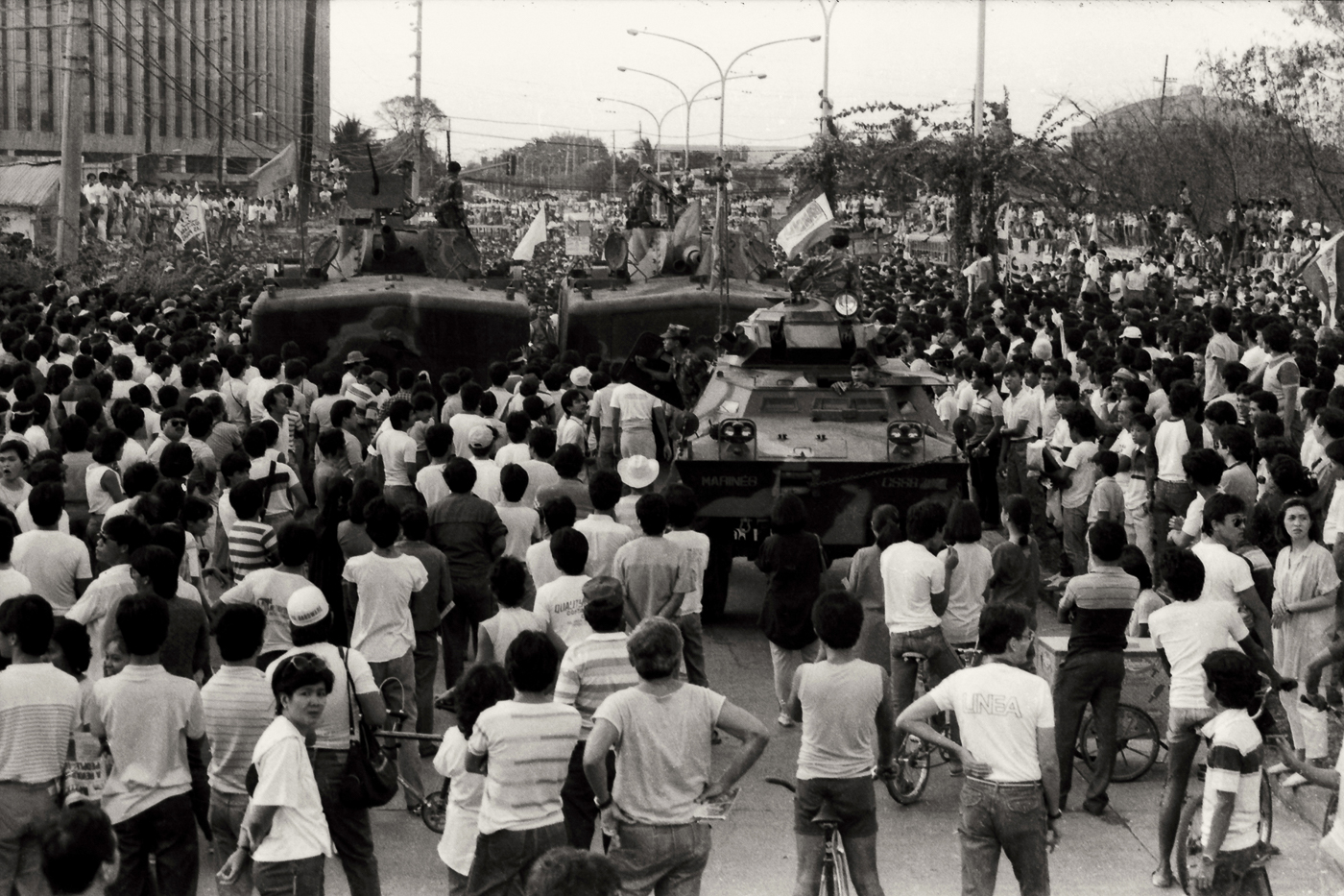 the history of the filipino peoples power revolution People power in the philippines in the mid-1980's a popular movement sprang up to oust the corrupt philippine dictator ferdinand marcos as the resistance gained.