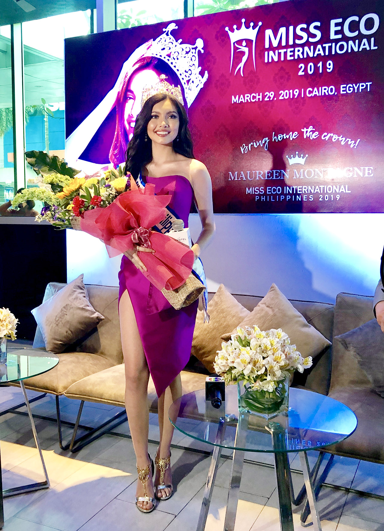HOPING FOR BACK-TO-BACK. Maureen hopes to duplicate the success of Cynthia Thomalla, who won the title in Egypt last year.