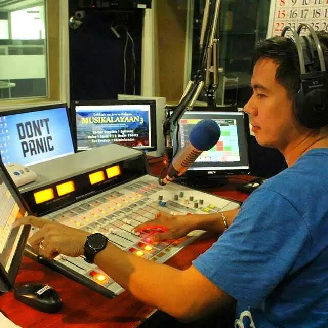 BROADCASTING. The man behind Voice of the Youth Network DJ Pacholo de Leon Gonzales.