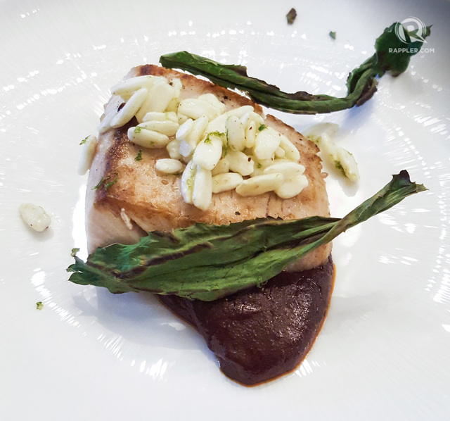 SAVORY-SWEET. Gallery Vask's Chef Chele Gonzales' mahi and mole dish.