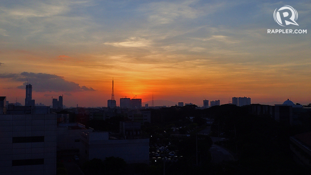VIEWFROM THE TOP. Or pick a hotel with a roof deck, where you can see the city skyline and sunsets. This photo was taken from the roof deck of Microtel in Quezon City.