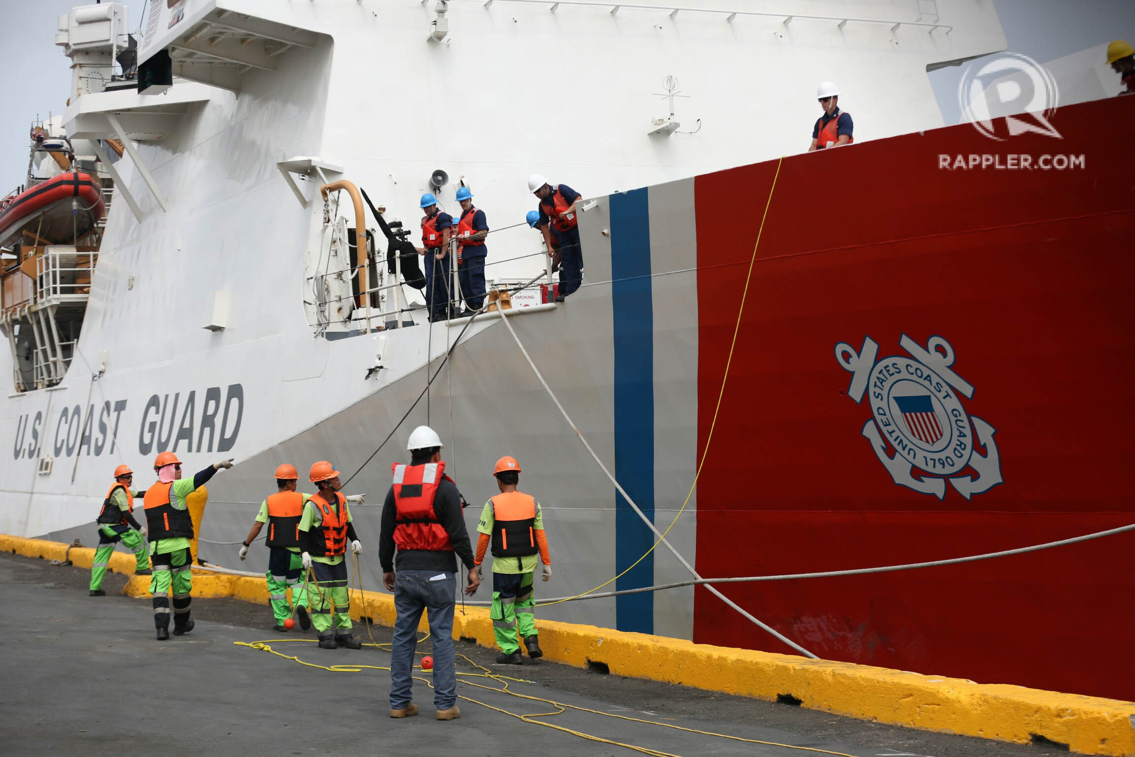 PUSH BACK. The United States Coast Guard National Security Cutter Bertholf docks at the Pier 15 during an arrival ceremony on May 15, 2019 in Manila after the search and rescue, maritime security and law enforcement exercise they conduct with the Philippine Coast Guard near Bajo de Masinloc in West Philippine Sea. The visit is part of deployment in the Indo-Pacific under the tactical control of the commander of US 7th fleet. PHOTO BY INOUE JAENA/Rappler
