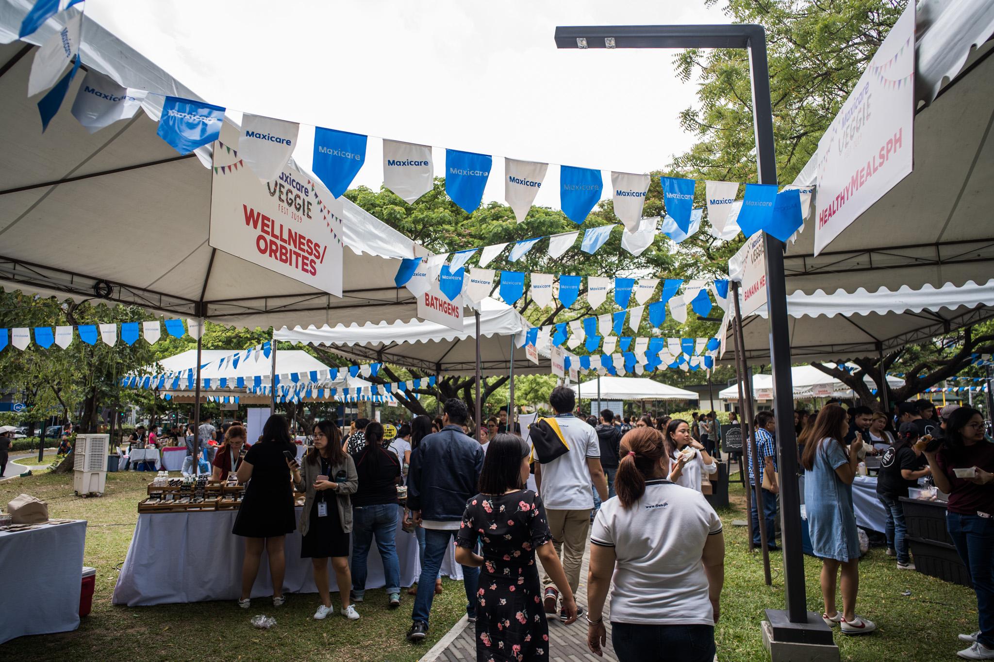 MAXICARE VEGGIE FEST. This vegan food festival in Legazpi Park was crowded with vegans and non-vegans alike.