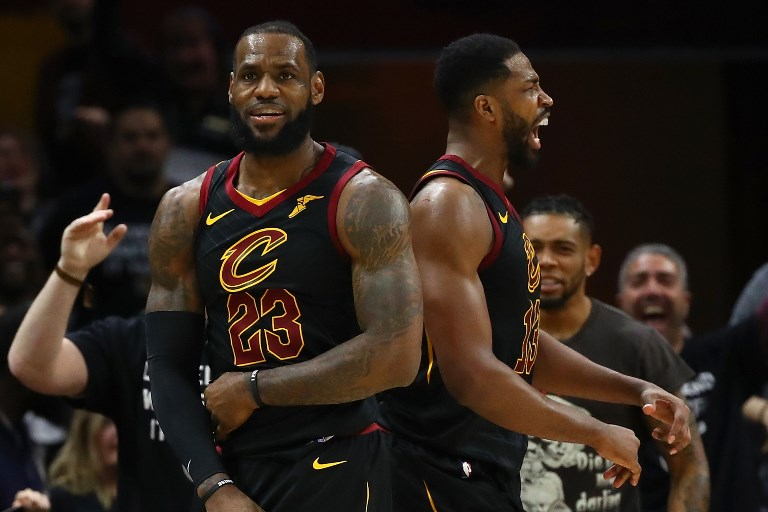 f77142b20d13 LeBron James makes it into the second round of the playoffs
