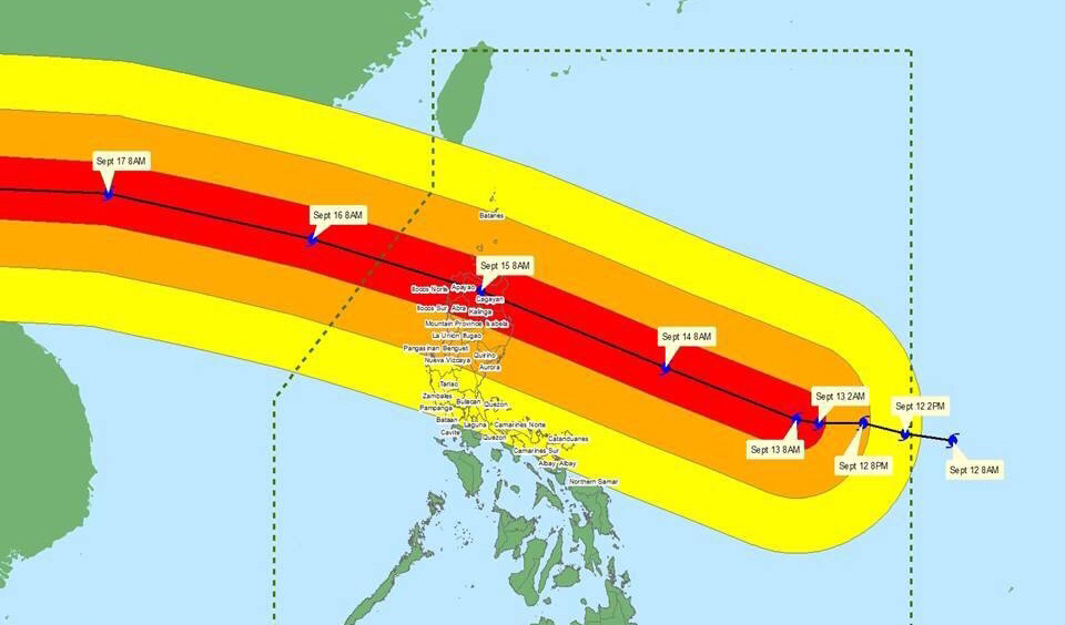 DILG raises alert levels for local gov't units in Typhoon Ompong's path
