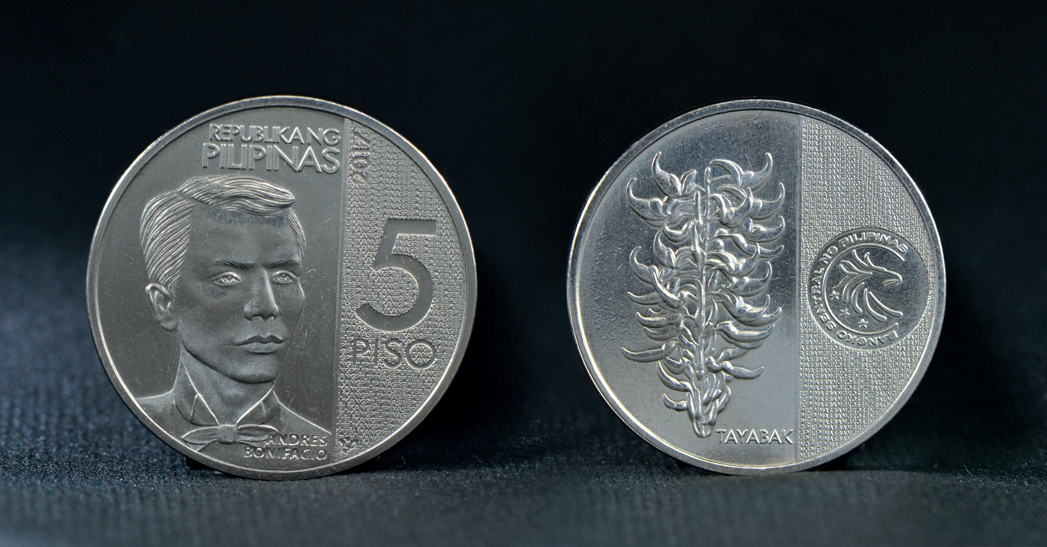 BSP Releases New P5 Coin To Honor Andres Bonifacio