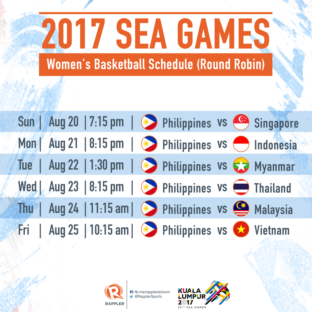 sea games women basketball sched - Asian Games Schedule