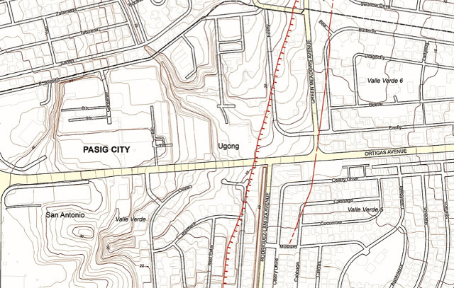 57 subdivisions villages traversed by West Valley Fault