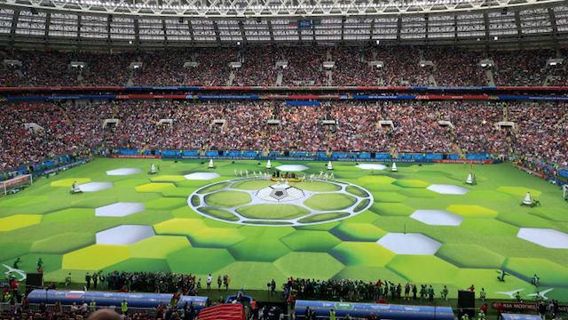 Pembukaan Piala Dunia  Terlihat Semarak Dan Meriah Di Stadion Luzhniki Moskow