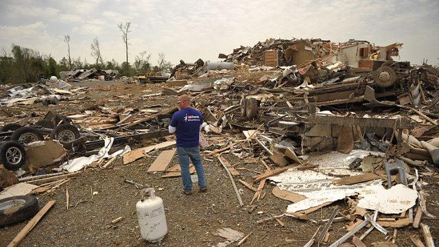New Tornadoes Tear Through Us South