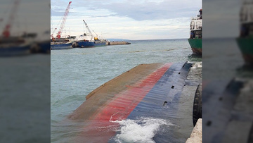 Cargo ship capsizes off Cebu, 12 crew members rescued