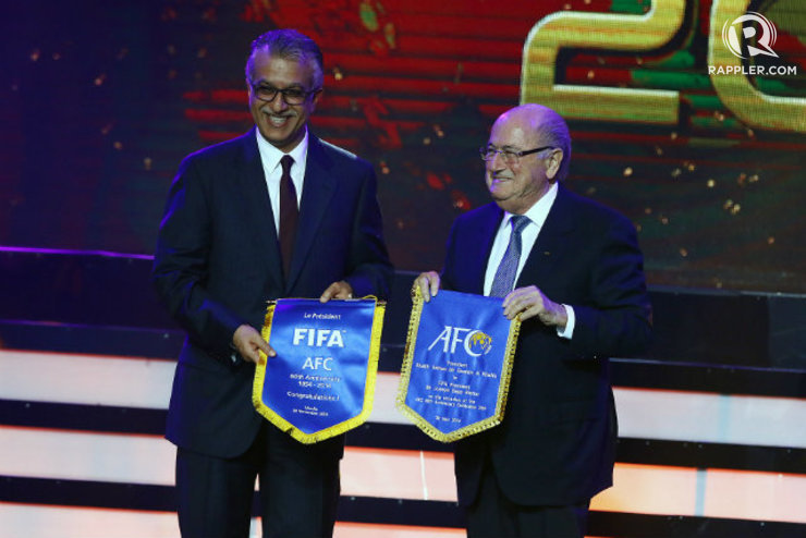 e45f71d979 FIFA head Sepp Blatter (R) won t have to worry about Shaikh Salman