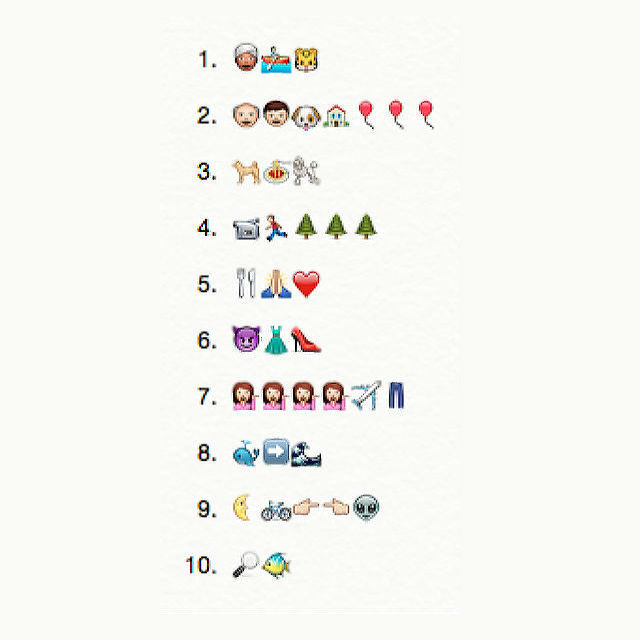 The Emoji Challenge: Can you guess these titles?