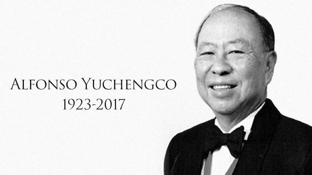 Alfonso Yuchengco Tycoon and diplomat Alfonso Yuchengco dies