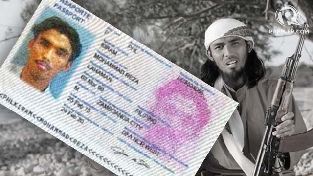 EXCLUSIVE. The passport of Filipino Mohammad Reza Kiram juxtaposed against the Filipino in the ISIS video