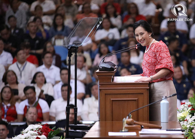 100 DAYS. Quezon City Mayor Joy Belmonte delivers her first State of the City Address on October 7, 2019. Photo by Darren Langit/Rappler