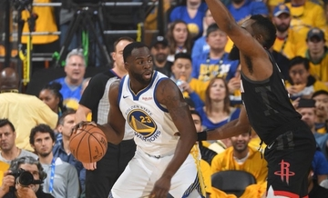 4410e8b60547 FIRST BLOOD. Draymond Green and the Golden State Warriors escape James  Harden and the Houston
