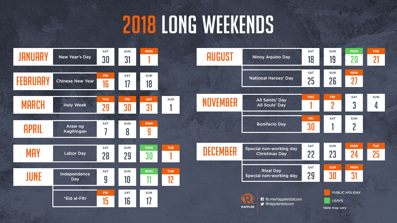 Calendar May Long Weekend : Plan your long weekends in