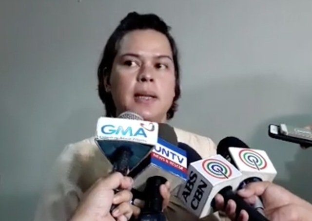MAYOR DUTERTE. Davao City Mayor Sara Duterte-Carpio declares Davao as locked down until further notice due to the clash in Marawi. Rappler screengrab