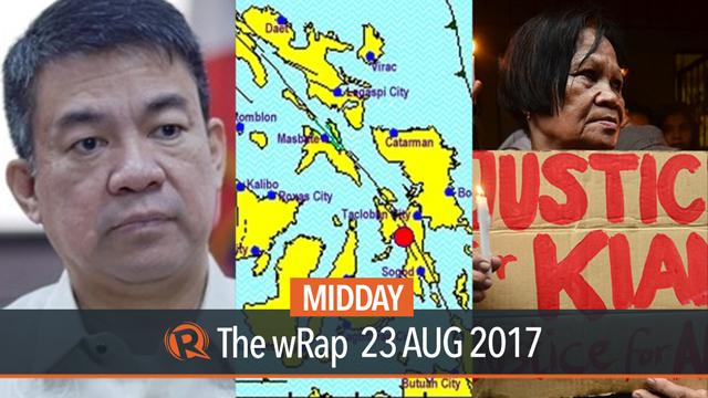 Pimentel, Leyte earthquake, Sung Kim   Midday wRap