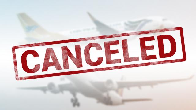 Canceled flights due to Tropical Depression Odette