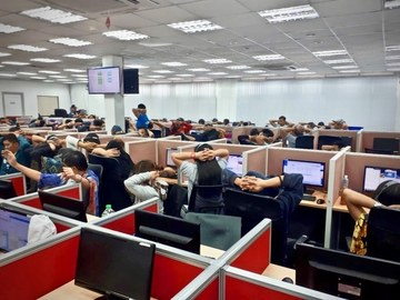 490 arrested for massive online scam in Clark, Pampanga
