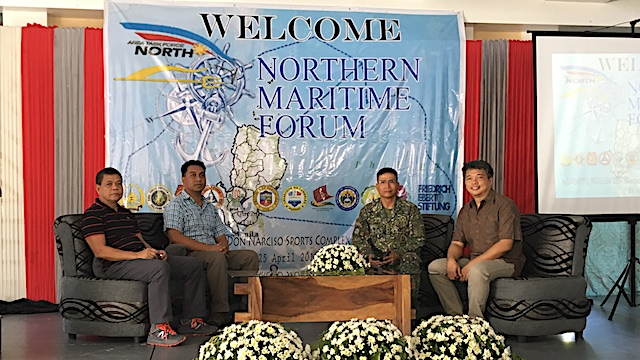 MARITIME FORUM. Northern Luzon Command chief Lieutenant General Emmanuel Salamat hosts a maritime forum for fishermen in Pangasinan. Photo by Carmela Fonbuena/Rappler.com