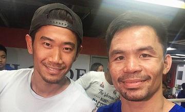 LOOK: Japan football star Shinji Kagawa meets Pacquiao in PH