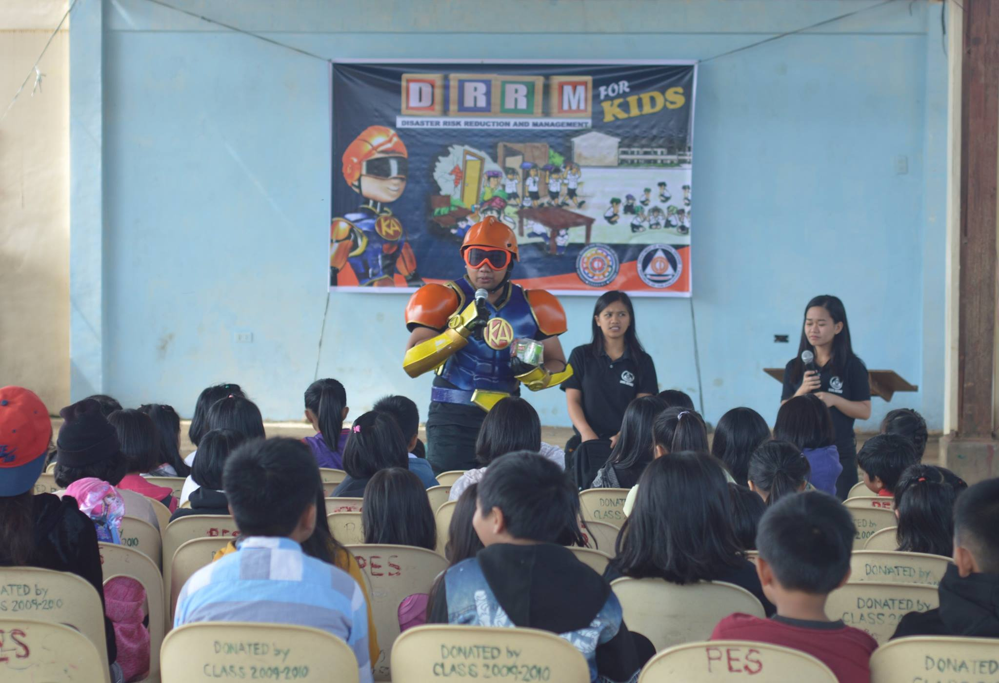 Kapitan Alerto teaches Cordillera kids to be ready for school and disasters