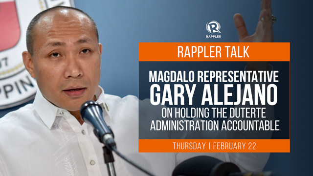 Rappler Talk: Gary Alejano on holding the Duterte administration accountable