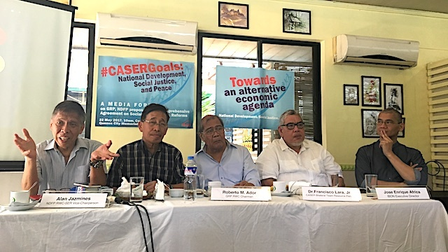 SOCIAL MEDIA CAMPAIGN. Ibon Foundation launches a social media campaign to promote understanding of talks on Comprehensive Agreement on Socio-economic Reforms or CASER. Rappler photo