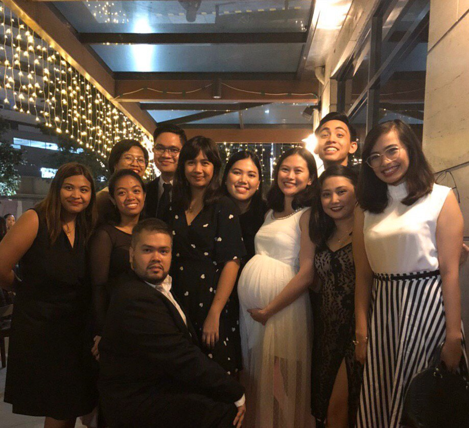 RAPPLER news reporters during the 2019 office Christmas party
