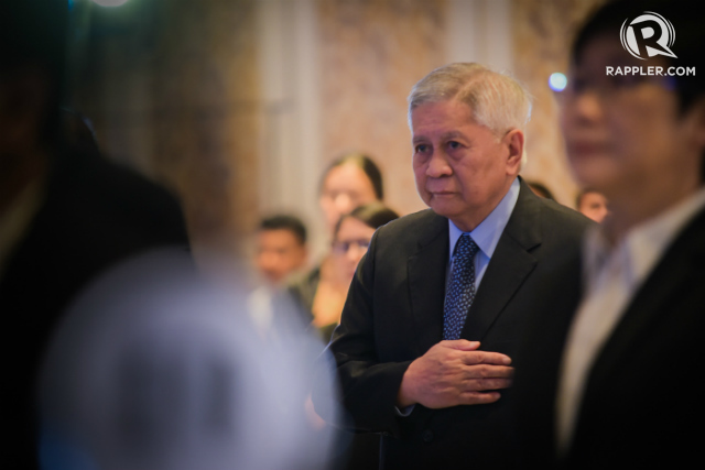 EX-TOP DIPLOMAT. Former Philippine foreign secretary Albert del Rosario in a speech on November 8, 2017, calls on ASEAN to exercise stronger leadership by emphasizing the rule of law. Photo by Alecs Ongcal/Rappler