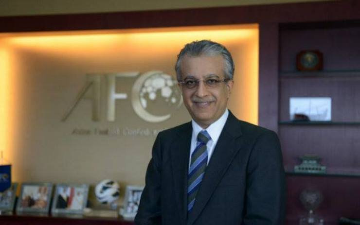 7217205528 Asian Football Confederation (AFC) President Sheikh Salman Bin Ebrahim Al  Khalifa has arrived in