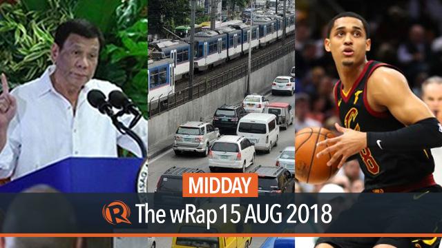 Duterte on resignation, driver-only car ban, Jordan Clarkson   Midday wRap