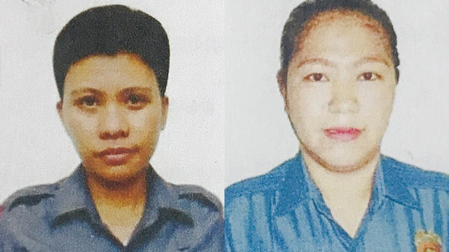 'RELEASED'. Police Officer 2 Benierose Alvares and Police Officer 1 Dinah Gumahad are kidnapped in Sulu. Sourced photo