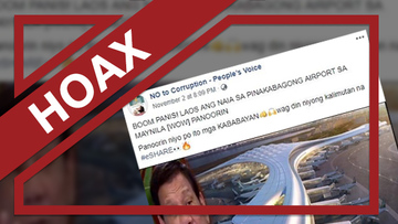 HOAX: Photo of 'newest' airport in Manila