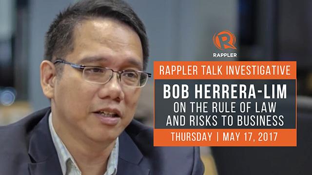 rappler talk investigative  bob herrera