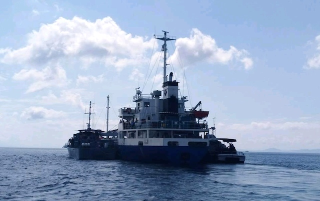 SEAJACKING ATTEMPT. The MV Kudos survives a seajacking attempt on February 16, 2018. Photo courtesy of the Western Mindanao Command (Wesmincom)