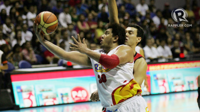 HEALTHY. Beau Belga together with a fully healthy Rain or Shine roster hopes to end their runner-up streak. File photo by Josh Albelda/Rappler