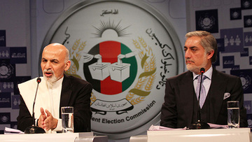 Ghani named next Afghan president, signs power-sharing deal